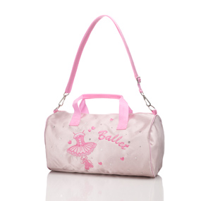 Pink satin ballet 'barrel' bag