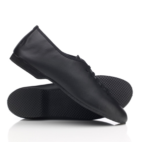 Black lace-up rubber soled Jazz shoes