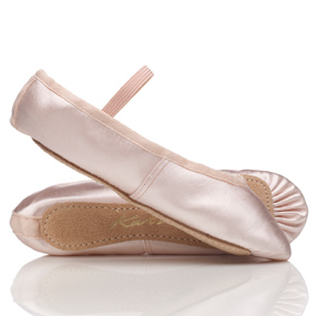 Pink satin ballet shoes