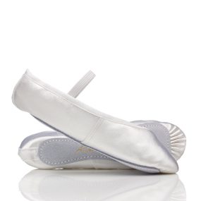 White leather ballet shoes by Bloch