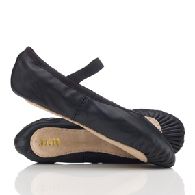 Bloch leather ballet shoes with pre-sewn elastic