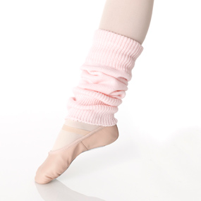 Pink legwarmers with stirrup.