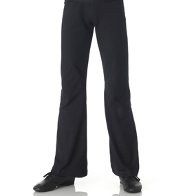 Black cotton lycra jazz pants
