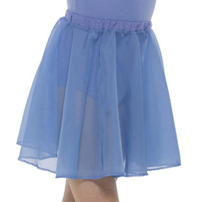 ISTD chiffon skirt in blue