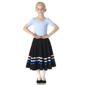 RAD approved character skirt in blue and white