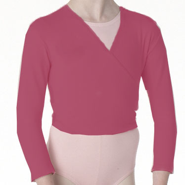 ISTD plum cotton lycra x-over wrap